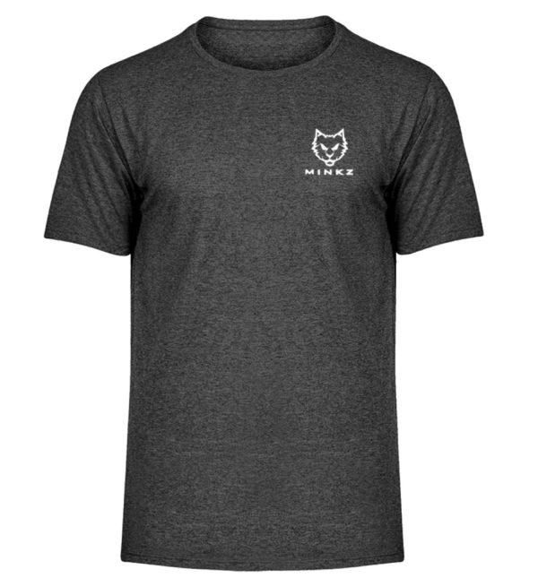 """MINKZ® - Premium Shirt """"Little Kitty - Herren Melange Shirt-6808"""