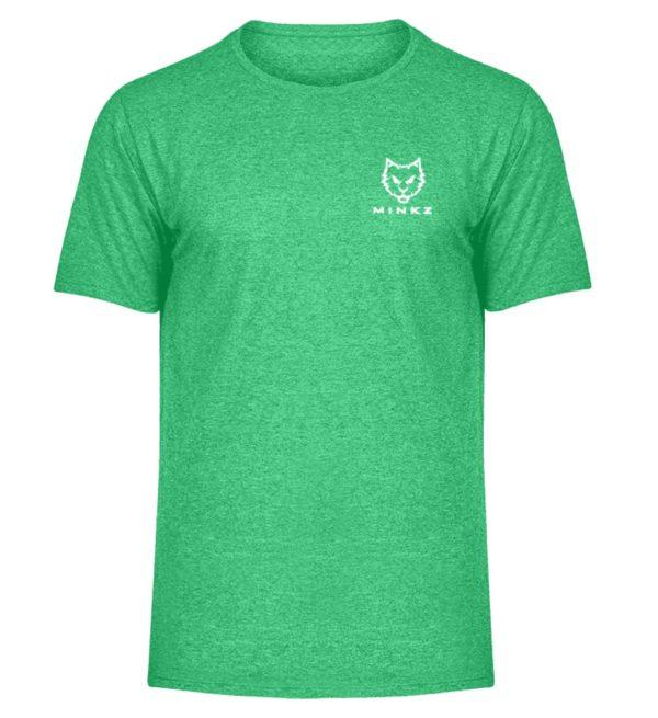 """MINKZ® - Premium Shirt """"Little Kitty - Herren Melange Shirt-6804"""