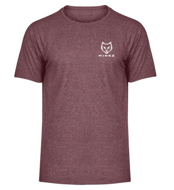 """MINKZ® - Premium Shirt """"Little Kitty - Herren Melange Shirt-6805"""