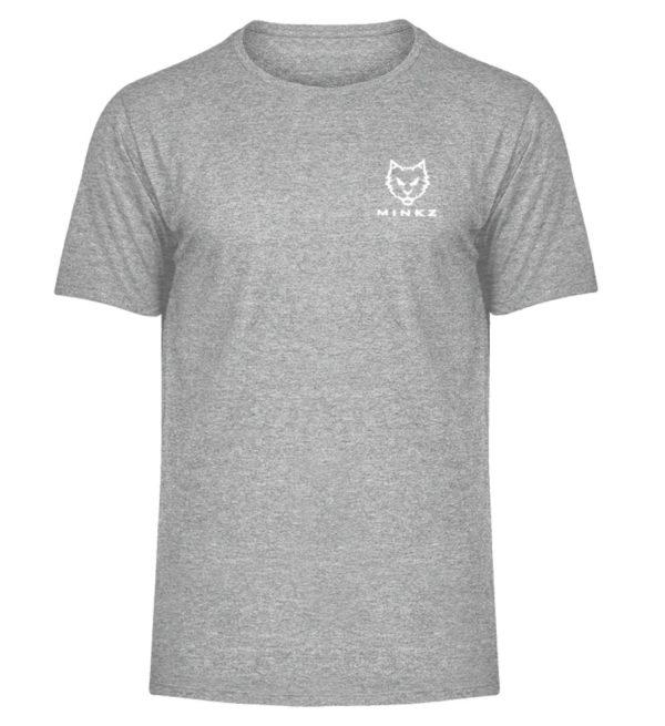 """MINKZ® - Premium Shirt """"Little Kitty - Herren Melange Shirt-6807"""