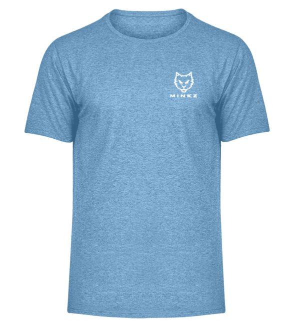 """MINKZ® - Premium Shirt """"Little Kitty - Herren Melange Shirt-6806"""
