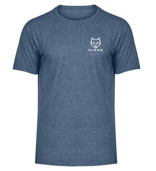 """MINKZ® - Premium Shirt """"Little Kitty - Herren Melange Shirt-6803"""