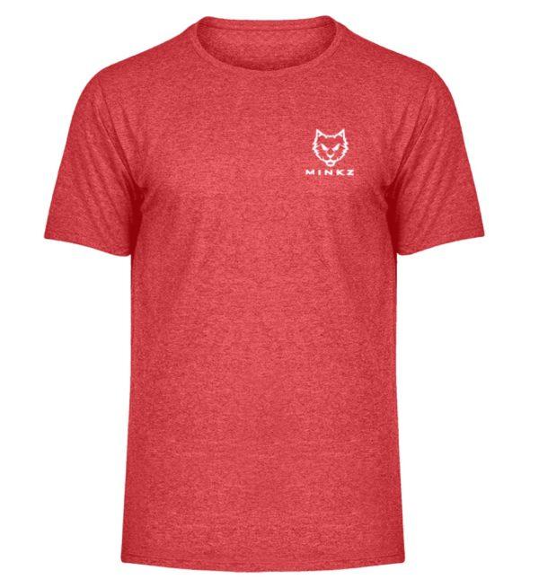 """MINKZ® - Premium Shirt """"Little Kitty - Herren Melange Shirt-6802"""