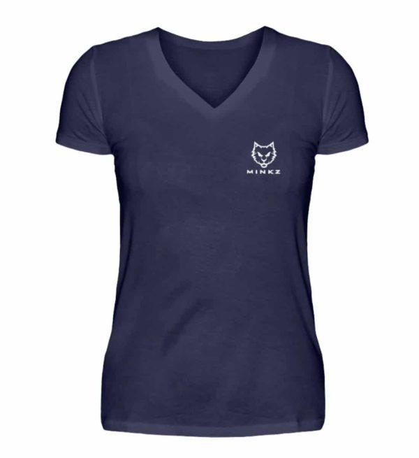 """MINKZ® - Premium Shirt """"Little Kitty"""" - V-Neck Damenshirt-198"""