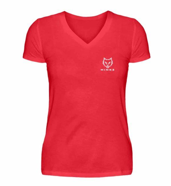 """MINKZ® - Premium Shirt """"Little Kitty"""" - V-Neck Damenshirt-2561"""