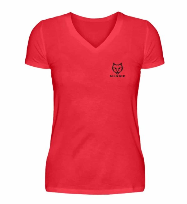 "MINKZ® - Premium Shirt ""Little Kitty"" - V-Neck Damenshirt-2561"
