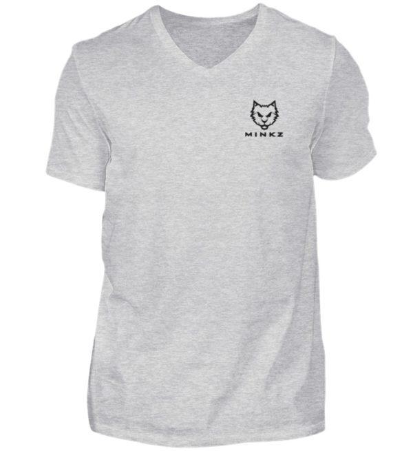 """MINKZ® - Premium Shirt """"Little Kitty"""" - Herren V-Neck Shirt-236"""