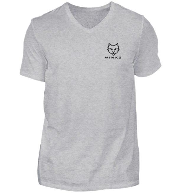 """MINKZ® - Premium Shirt """"Little Kitty"""" - Herren V-Neck Shirt-17"""