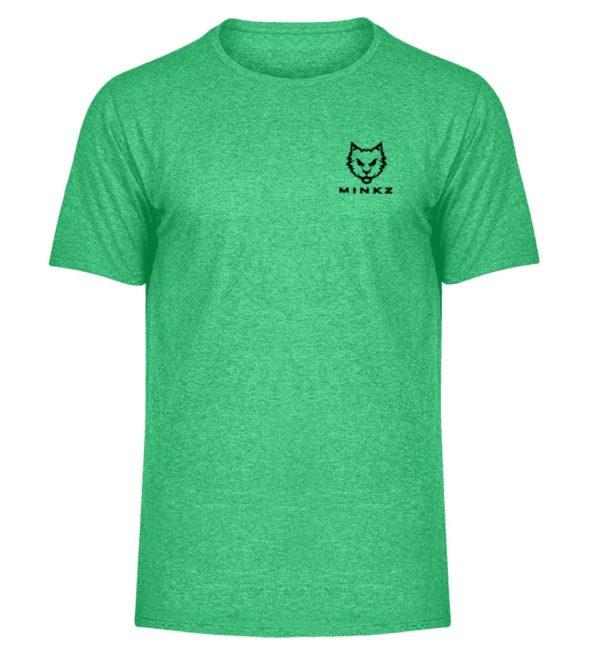 """MINKZ® - Premium Shirt """"Little Kitty"""" - Herren Melange Shirt-6804"""