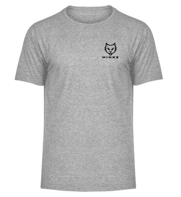 """MINKZ® - Premium Shirt """"Little Kitty"""" - Herren Melange Shirt-6807"""