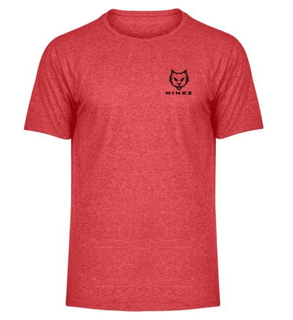 """MINKZ® - Premium Shirt """"Little Kitty"""" - Herren Melange Shirt-6802"""