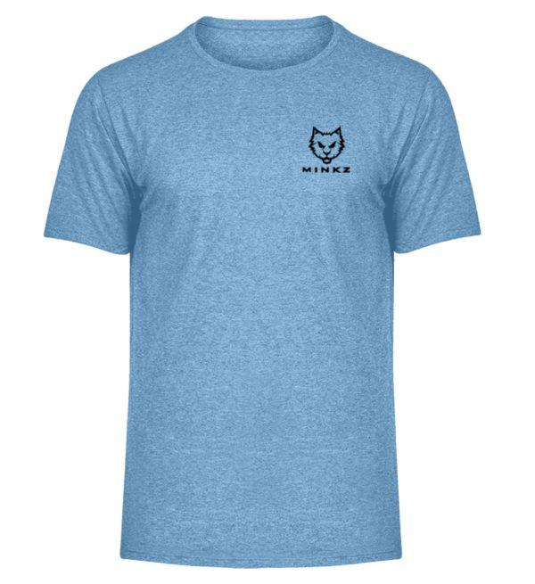 """MINKZ® - Premium Shirt """"Little Kitty"""" - Herren Melange Shirt-6806"""