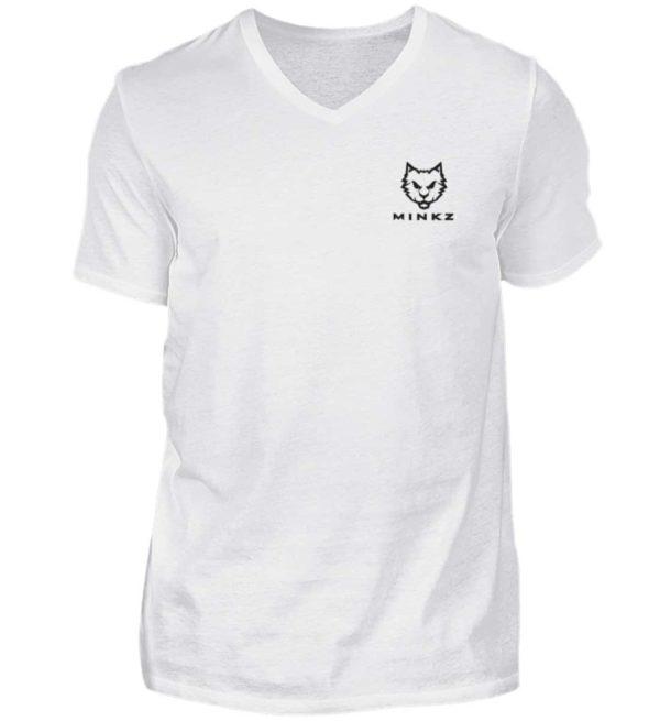 MINKZ® - Eine geht noch! - Herren V-Neck Shirt-3