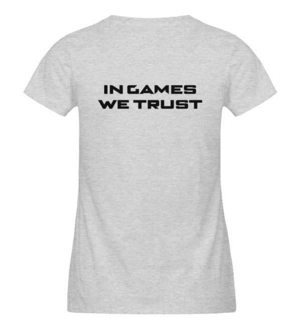 MINKZ® - In games we trust - Damen Organic Melange Shirt-6892